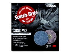 50% OFF - Scotch-Brite™ Light Grinding and Blending Disc, 65000, TN Quick Change, 4-1/2 in x NH, Super Duty, A CRS, Single Pack